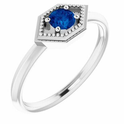 AU576.61 • Buy Blue Sapphire Geometric Ring In Sterling Silver