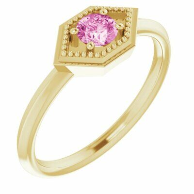 AU749.61 • Buy Pink Sapphire Geometric Ring In 14K Yellow Gold