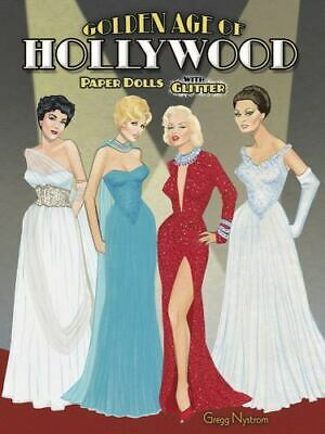 AU14.35 • Buy GOLDEN AGE OF HOLLYWOOD PAPER DOLLS WITH GLITTER DOVER By Gregg Nystrom *NEW*