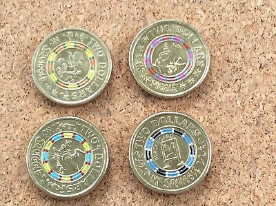 AU20 • Buy 2019 Set Of 4 Coins $2 Dollar Coin 60th Anniversary Of Mr Squiggle