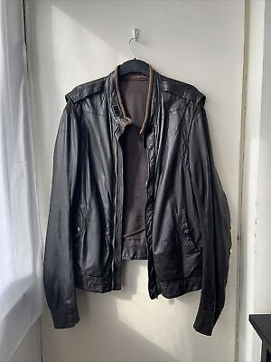 Rick Owens Pilot/Formula One Brown Leather Jacket • 200£
