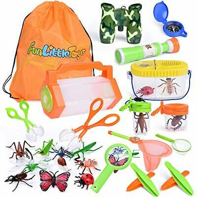 AU30.69 • Buy FUN LITTLE TOYS Bug Catcher Kits For Kids With Bug Containers Butterfly Nets ...