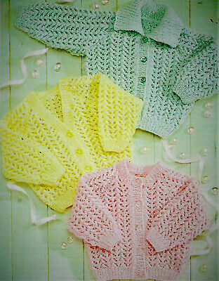 £2.79 • Buy Baby Knitting Pattern For Cardigans In DK To Fit 16-24'' C8