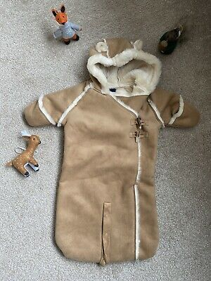Baby Gap Pramsuit Faux Suede 0-3 Months • 5£