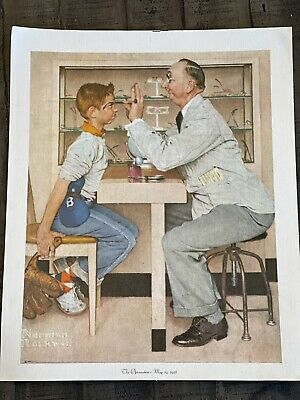 $ CDN18.82 • Buy Norman Rockwell The Optometrist May 19, 1956 Boy Glasses  Reprint On Canvas