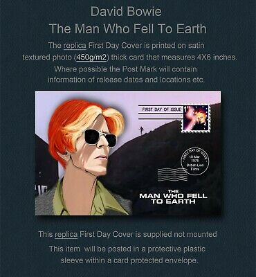 David Bowie The Man Who Fell To Earth First Day Cover Replica • 2.99£