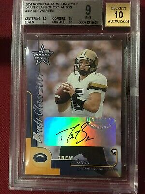 $1499 • Buy Drew Brees 2000 Leaf R & S Auto Pre 2001 XRC 04 Buyback BGS 9/10 RARE