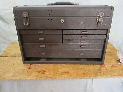 $82 • Buy Vintage Kennedy 7 Drawer Machinist Metal Tool Box .No Ding Or Rust