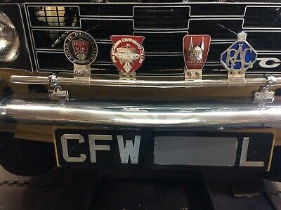 Badge Bar , Stainless Steel, Rover P6 ,Austin  Morris ,Ford , Triumph , Rolls • 50£