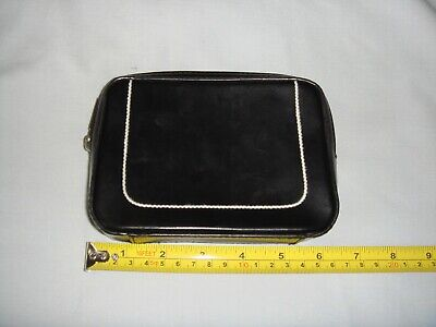 MEXX Ladies SMALL Make Up Bag BLACK - IN VERY GOOD CONDITION • 3.50£