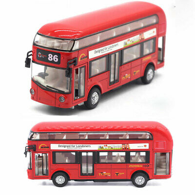 $ CDN26.96 • Buy Double Decker Bus Model Car Diecast Toy Vehicle Collection Sound Light Red Kids