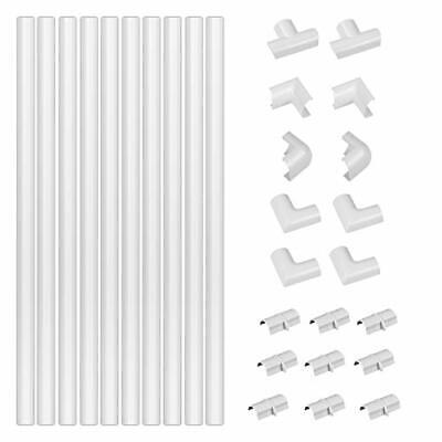 £16.99 • Buy D-Line White Medium Trunking Kit, 4-Meter Self-Adhesive Wire Hider, Cable