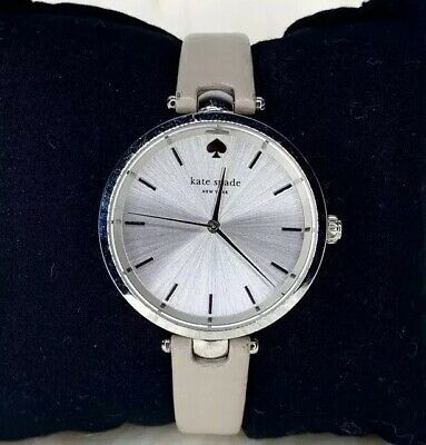 $ CDN62.66 • Buy Kate Spade New York Holland Gray Leather Strap Water Resistant Watch 34mm 0813
