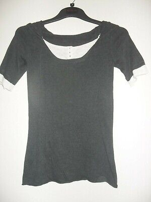 AU8 • Buy Kookai Size 0 Or UK Size 6 Hooded Knitted Grey Top