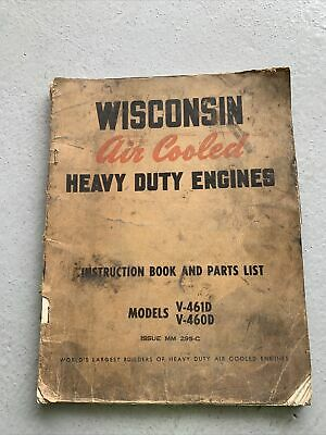 AU26.22 • Buy Wisconsin V460D V461D SERVICE SHOP REPAIR MANUAL V4 BOOK GUIDE PARTS LIST