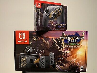 AU917.60 • Buy Nintendo Switch Console Monster Hunter Rise Deluxe Edition + Pro Controller 🚚💨