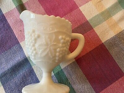 $10.30 • Buy Vintage Milk Glass Grape Pattern Cream And Sugar And Two Other Pieces