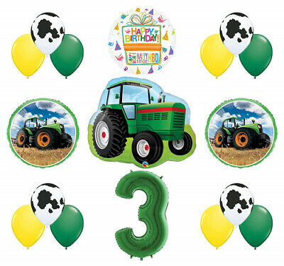 AU59.95 • Buy Mayflower Products 3rd Birthday Farm Tractor Balloon Bouquet Decorations And