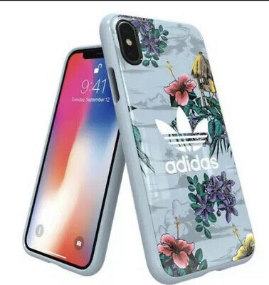 AU19.67 • Buy Adidas Originals Floral Phone Case IPhone X Tropical Graphic Trefoil