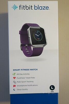 $ CDN12.52 • Buy Large Plum Fitbit Blaze FB502 Smart Fitness Watch With Charger And Extra Band