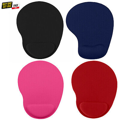 £4.09 • Buy Anti Slip Foam Mouse Pad With Comfortable Wrist Rest Support For PC Laptop Mac