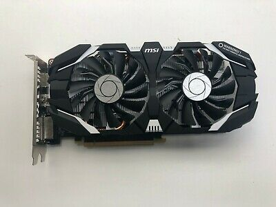 $ CDN218.35 • Buy *FOR PARTS* MSI GTX 1060 6GB OC Dual Fan Graphics Card NO VIDEO / POWERS ON FANS