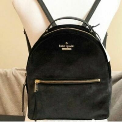$ CDN61.41 • Buy Kate Spade WKRU5590 Dawn Place Velvet Sammi Black Backpack Bag