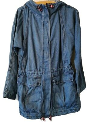AU22.14 • Buy Woman's PULL And BEAR BLUE HOODY/HOODED JACKET - Size SMALL