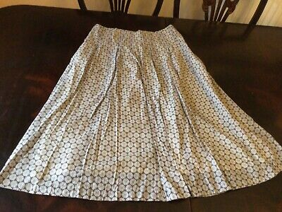 Sz 12 Skirt Fm COTSWOLD COLLECTIONS.  100% COTTON.  FULLY LINED.  VGC • 2.75£
