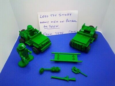 LEGO Toy Story Army Men (7595) 2x Jeeps, 2xSoldiers,+stretcher & Accessories. • 13.95£
