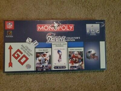 £18.19 • Buy New England Patriots Monopoly 2003 Collector's Edition Tom Brady Super Bowl NFL