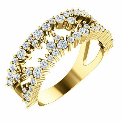 AU2366.12 • Buy Diamond Negative Space Ring In 14K Yellow Gold (3/4 Ct. Tw