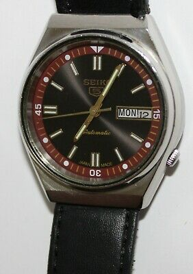 $ CDN44.37 • Buy Seiko 5 Automatic Wrist Watch Working Day Date Roman 6309-8820 Used Vintage