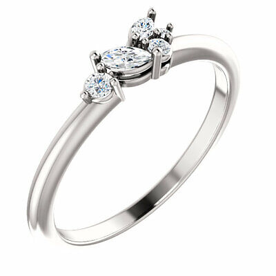 AU1024.36 • Buy Diamond Stackable Cluster Ring In Platinum (1/6 Ct. Tw