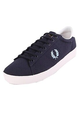 £54.99 • Buy Fred Perry Spencer Mens Canvas Trainers Shoes Lace Up Plimsolls Navy Blue