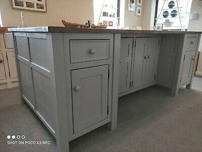 £4615 • Buy Freestanding Kitchen Island With Pine Worktop And Seating Areas.