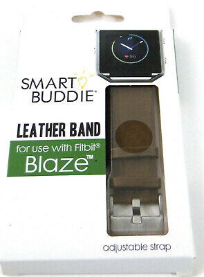AU17.62 • Buy Smart Buddy Brown Leather Band For Use With Fitbit Blaze Adjustable Strap New