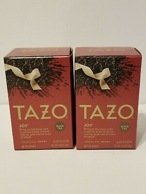 £11.32 • Buy Tazo Joy Black Tea 2 New Boxes 20 Packets Each Sealed Filtered Bags