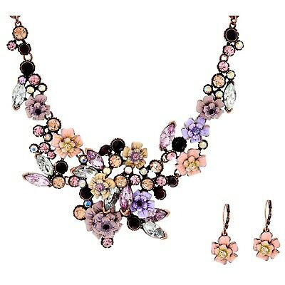 $ CDN34.96 • Buy QVC Joan Rivers Language Of Flowers Rose Necklace And Earrings Set $185