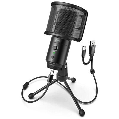 AU79 • Buy Fifine Technology Condenser Cardioid USB-C Podcast Microphone W/Stand/Pop Filter