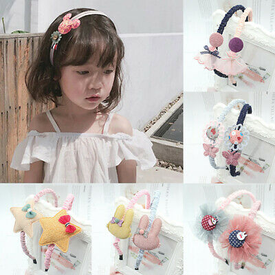 $ CDN2.66 • Buy 1PCS Cute Girls Hairbands Cartoon Lace Bow Headbands Tooth Baby Hair Accessories