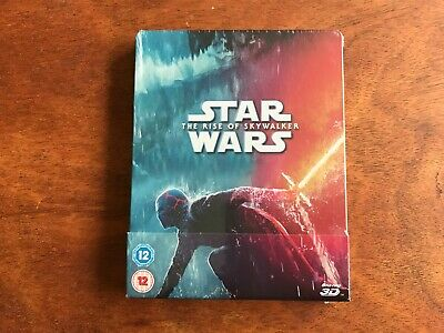 AU53.27 • Buy STAR WARS - The Rise Of Skywalker 3D + 2D Blu Ray Steelbook BRAND NEW & SEALED.