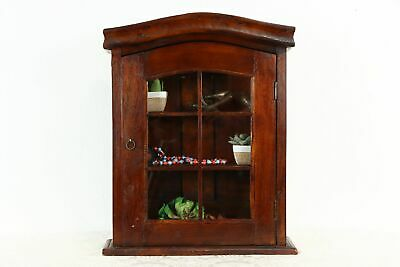 $375 • Buy Tabletop Or Wall Hanging Mahogany Vintage Display Cabinet, Medicine Chest #37262
