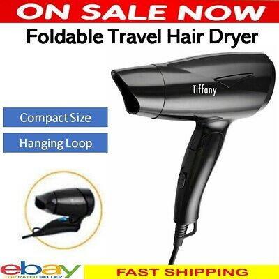 AU18.85 • Buy Tiffany Foldable Hair Dryer Hairdryer Blow Dry Travel Compact 2 Heat 1200W