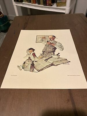 $ CDN12.53 • Buy Norman Rockwell The Druggist Litho 8x10
