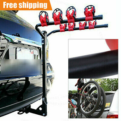 AU59.49 • Buy 4 Bicycle Carrier Car Rear Mount Bike Rack 2  Towbar Hitch Mount Steel Foldable