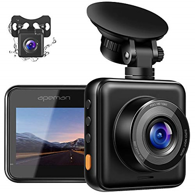 AU86.43 • Buy APEMAN Dual Dash Cam For Cars Front And Rear With Night Vision 1080P FHD Mini In