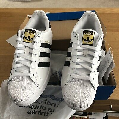 AU44.47 • Buy Size UK 9 - Adidas Superstar Foundation Core White Trainers Sneakers