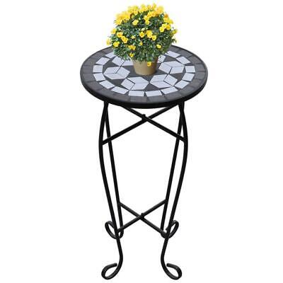 AU49.90 • Buy Mosaic Living Lounge Room Furniture Decor Side Coffee Plant Table Black & White