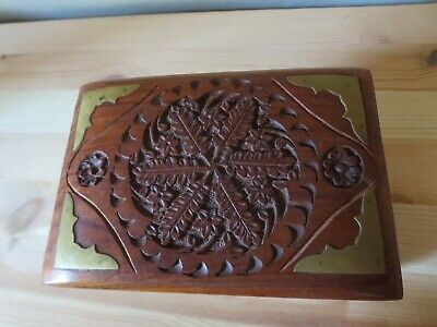 £6.99 • Buy Hand Carved Wooden Trinket / Jewellery Box